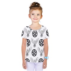 Owls And Pentacles Kids  One Piece Tee by IIPhotographyAndDesigns