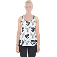 Owls And Pentacles Piece Up Tank Top