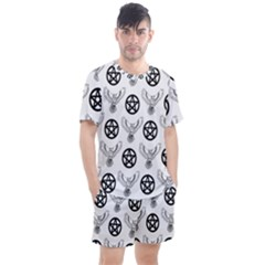 Owls And Pentacles Men s Mesh Tee And Shorts Set by IIPhotographyAndDesigns