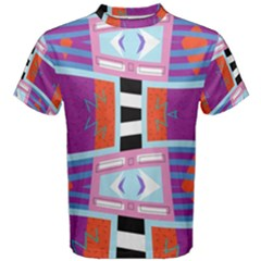 Mirrored Distorted Shapes                                    Men s Cotton Tee