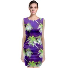 Palm Trees Hot Summer Nights Classic Sleeveless Midi Dress