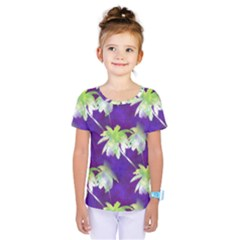 Palm Trees Hot Summer Nights Kids  One Piece Tee