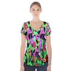 Spring Ornaments 2 Short Sleeve Front Detail Top