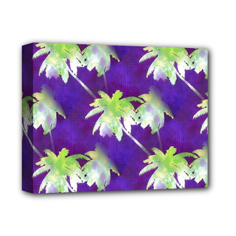 Palm Trees Hot Summer Nights Deluxe Canvas 14  X 11