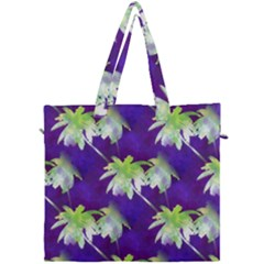Palm Trees Hot Summer Nights Canvas Travel Bag by CrypticFragmentsColors