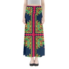 Distorted Shapes On A Blue Background                                  Women s Maxi Skirt