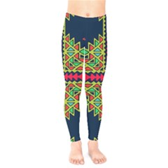 Distorted Shapes On A Blue Background                                    Kids  Leggings