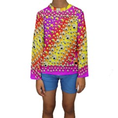 Festive Music Tribute In Rainbows Kids  Long Sleeve Swimwear by pepitasart