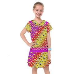 Festive Music Tribute In Rainbows Kids  Drop Waist Dress