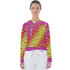 Festive Music Tribute In Rainbows Women s Slouchy Sweat