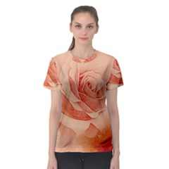 Wonderful Rose In Soft Colors Women s Sport Mesh Tee by FantasyWorld7