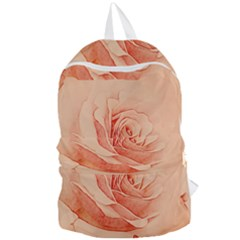 Wonderful Rose In Soft Colors Foldable Lightweight Backpack by FantasyWorld7