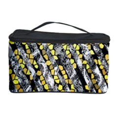 Gold Black And White Waves Created By Flipstylez Designs Cosmetic Storage Case