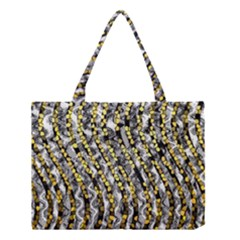 Gold Black And White Waves Created By Flipstylez Designs Medium Tote Bag