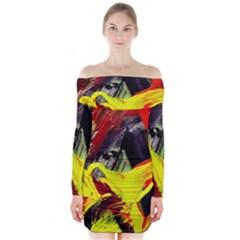 2 Long Sleeve Off Shoulder Dress