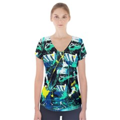 Brain Reflections 3 Short Sleeve Front Detail Top
