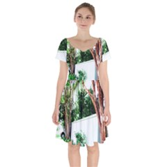 Hot Day In Dallas 40 Short Sleeve Bardot Dress