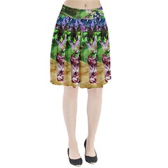 Lilac On A Countertop 2 Pleated Skirt