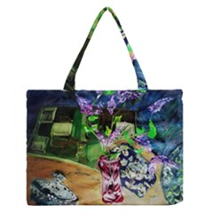 Lilac On A Countertop 2 Zipper Medium Tote Bag