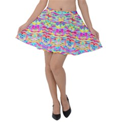 Beautiful Bright Tropical Watercolors Created By Flipstylez Designs Velvet Skater Skirt