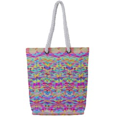 Beautiful Bright Tropical Watercolors Created By Flipstylez Designs Full Print Rope Handle Tote (small)