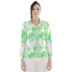 Palm Trees Tropical Beach Pattern  Windbreaker (women)