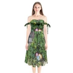 Easter On Balboa Shoulder Tie Bardot Midi Dress