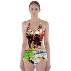 Width 3 Cut Out One Piece Swimsuit