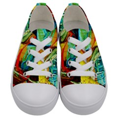 Red Aeroplane 6 Kids  Low Top Canvas Sneakers