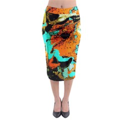 Fragrance Of Kenia 2 Midi Pencil Skirt