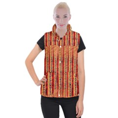 Seamless Blue Green Red And Orange Design Created By Flipstylez Designs  Women s Button Up Vest