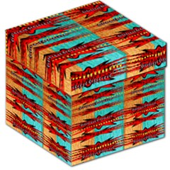 Exotic Blue Green Red And Orange Design Created By Flipstylez Designs Storage Stool 12   by flipstylezdes
