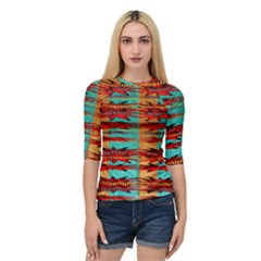 Exotic Blue Green Red And Orange Design Created By Flipstylez Designs Quarter Sleeve Raglan Tee