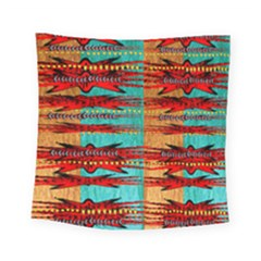 Exotic Blue Green Red And Orange Design Created By Flipstylez Designs Square Tapestry (small)