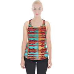 Exotic Blue Green Red And Orange Design Created By Flipstylez Designs Piece Up Tank Top