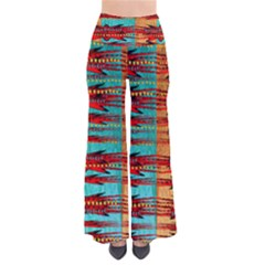 Exotic Blue Green Red And Orange Design Created By Flipstylez Designs So Vintage Palazzo Pants