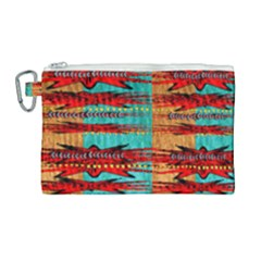 Exotic Blue Green Red And Orange Design Created By Flipstylez Designs Canvas Cosmetic Bag (large)