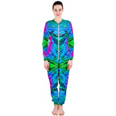 The Tropical Watercolor Peacock Feather Created By Flipstylez Designs  Onepiece Jumpsuit (ladies)