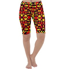 Red Black Yellow 1 Cropped Leggings