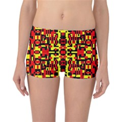 Red Black Yellow 1 Reversible Boyleg Bikini Bottoms