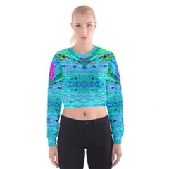 New Look Tropical Design By Flipstylez Designs  Cropped Sweatshirt