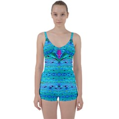 New Look Tropical Design By Flipstylez Designs  Tie Front Two Piece Tankini