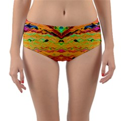 Yellow And Pink Ready For The Island By Flipstylez Designs  Reversible Mid Waist Bikini Bottoms