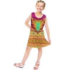 Pink Yellow And Tropical Pink Created By Flipstylez Designs Kids  Tunic Dress