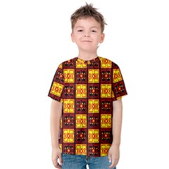 Red Black Yellow 3 Kids  Cotton Tee