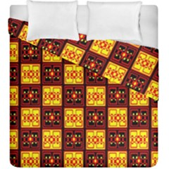 Red Black Yellow 3 Duvet Cover Double Side (king Size)