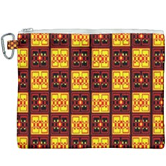 Red Black Yellow 3 Canvas Cosmetic Bag (xxxl)