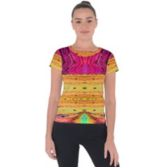 Pink Native Tropics Created By Flipstylez Designs Short Sleeve Sports Top