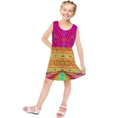 Pink Native Tropics Created By Flipstylez Designs Kids  Tunic Dress