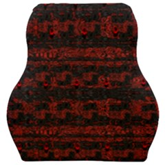 Burgundy Design With Black Zig Zag Pattern Created By Flipstylez Designs Car Seat Velour Cushion  by flipstylezdes